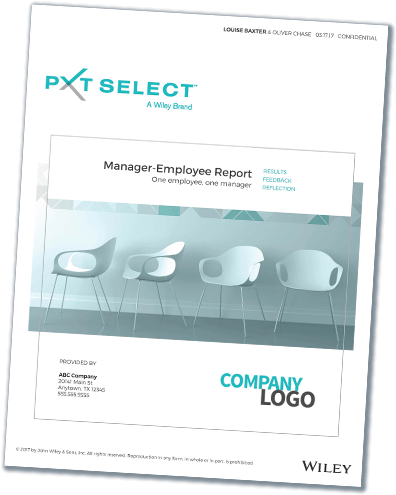Manager Employee Sample Report Cover